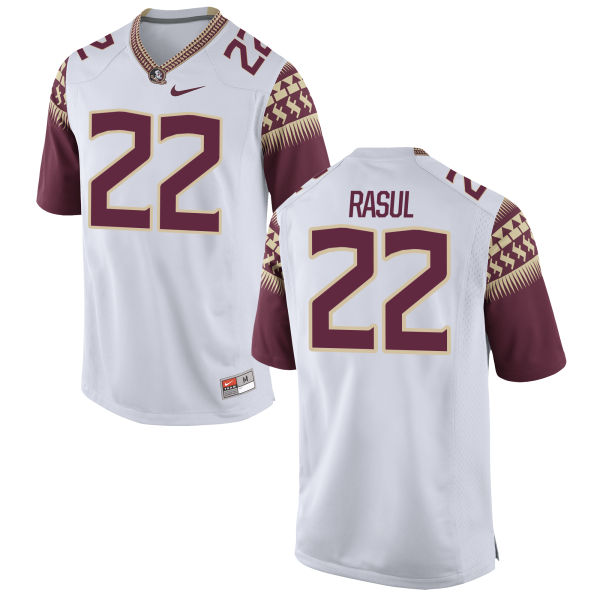 Youth Nike Amir Rasul Florida State Seminoles Game White Football Jersey