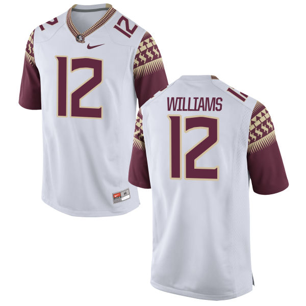 Youth Nike Arthur Williams Florida State Seminoles Game White Football Jersey
