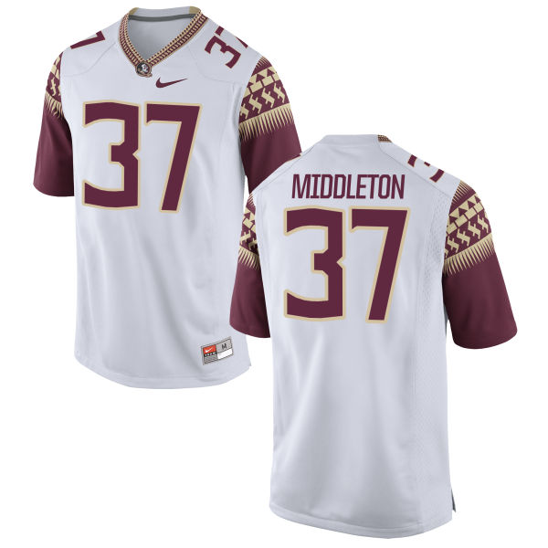 Men's Nike Blaik Middleton Florida State Seminoles Game White Football Jersey