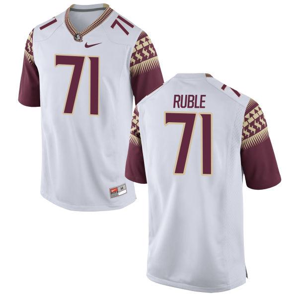 Men's Nike Brock Ruble Florida State Seminoles Limited White Football Jersey