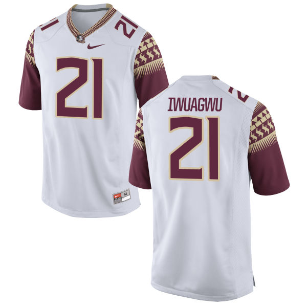 Youth Nike Chet Iwuagwu Florida State Seminoles Authentic White Football Jersey