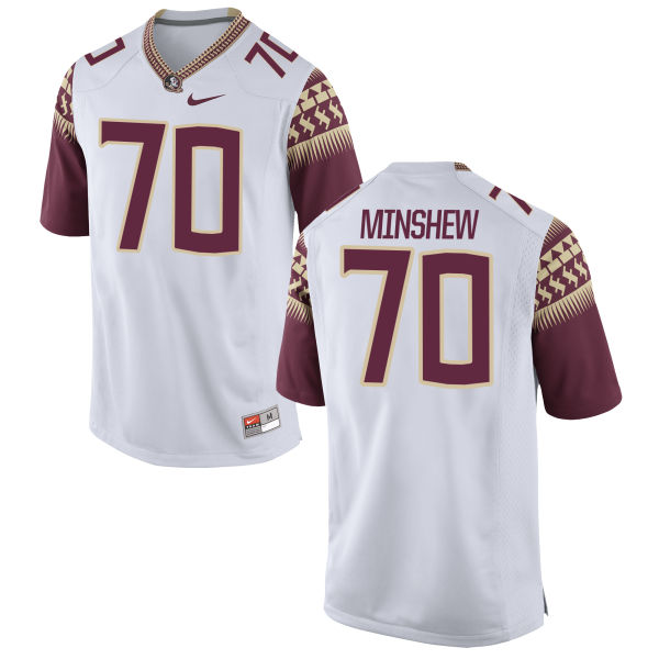 Men's Nike Cole Minshew Florida State Seminoles Game White Football Jersey