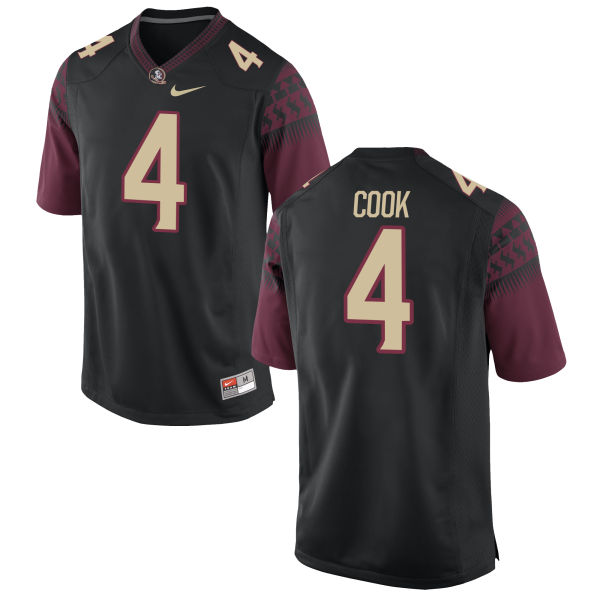 Youth Nike Dalvin Cook Florida State Seminoles Game Black Football Jersey