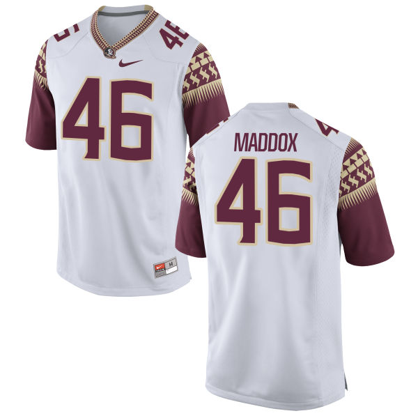 Men's Nike Daniel Maddox Florida State Seminoles Game White Football Jersey