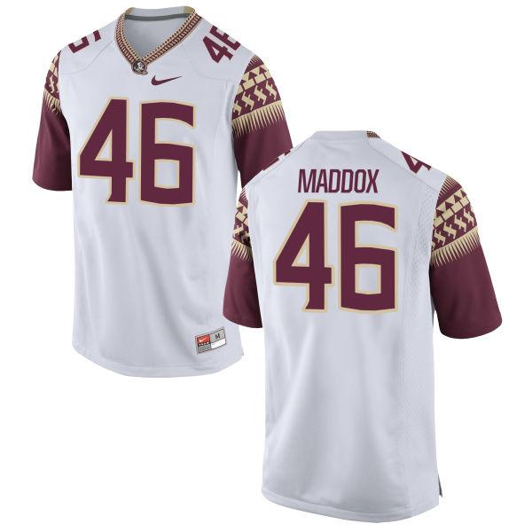 Women's Nike Daniel Maddox Florida State Seminoles Authentic White Football Jersey