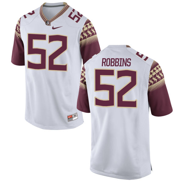Women's Nike David Robbins Florida State Seminoles Authentic White Football Jersey