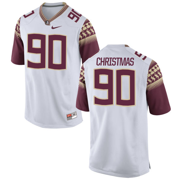 Men's Nike Demarcus Christmas Florida State Seminoles Game White Football Jersey