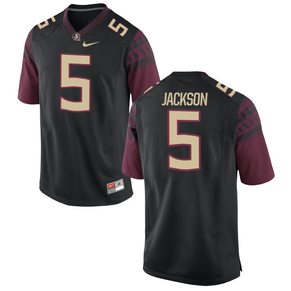 Men's Nike Dontavious Jackson Florida State Seminoles Game Black Football Jersey