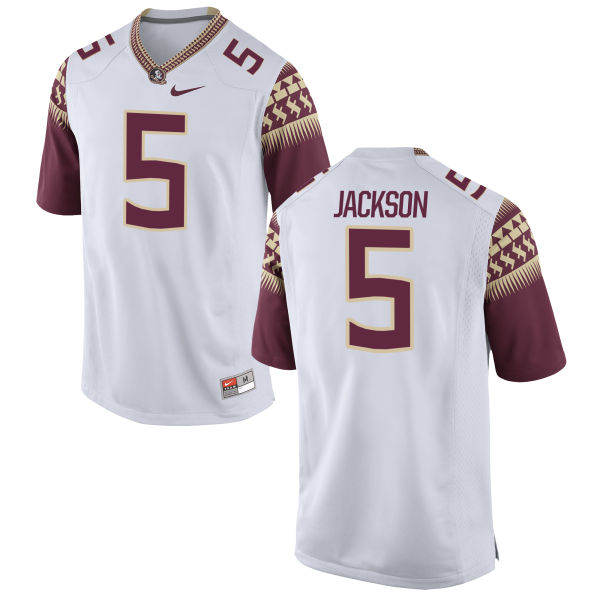 Men's Nike Dontavious Jackson Florida State Seminoles Game White Football Jersey