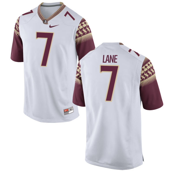 Men's Nike Ermon Lane Florida State Seminoles Game White Football Jersey