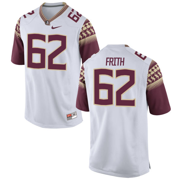 Men's Nike Ethan Frith Florida State Seminoles Game White Football Jersey