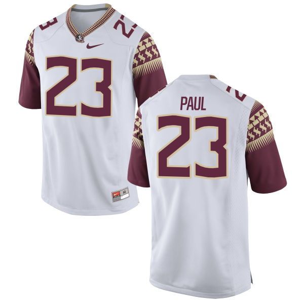 Men's Nike Herbans Paul Florida State Seminoles Replica White Football Jersey