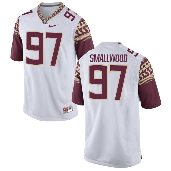 Men's Nike Isaiah Smallwood Florida State Seminoles Limited White Football Jersey