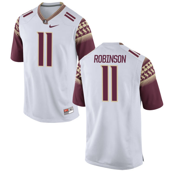 Men's Nike Janarius Robinson Florida State Seminoles Authentic White Football Jersey