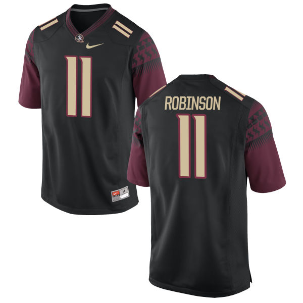 Men's Nike Janarius Robinson Florida State Seminoles Game Black Football Jersey