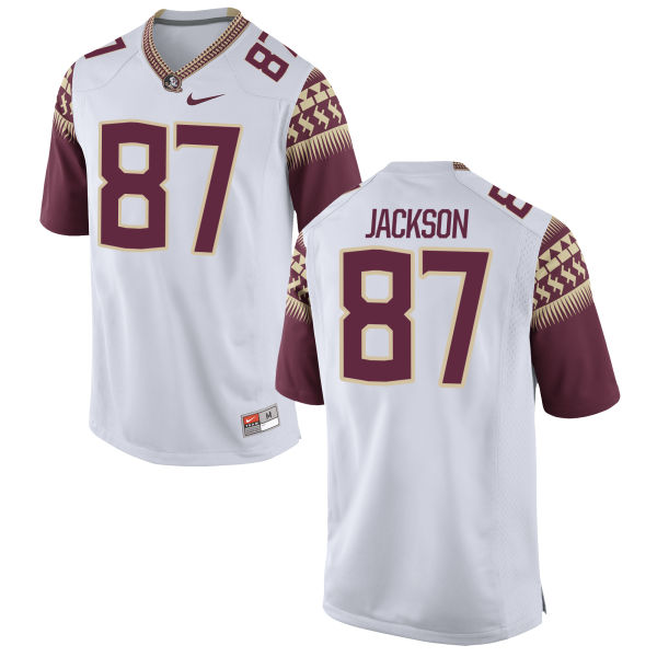 Men's Nike Jared Jackson Florida State Seminoles Game White Football Jersey