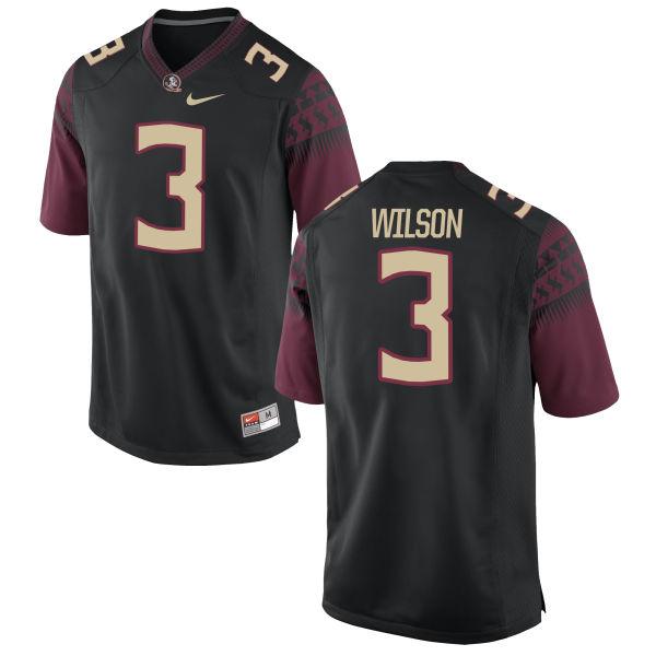 Men's Nike Jesus Wilson Florida State Seminoles Game Black Football Jersey