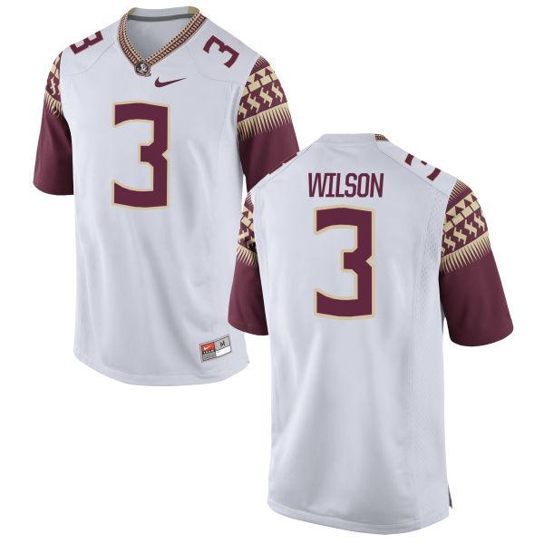 Men's Nike Jesus Wilson Florida State Seminoles Game White Football Jersey
