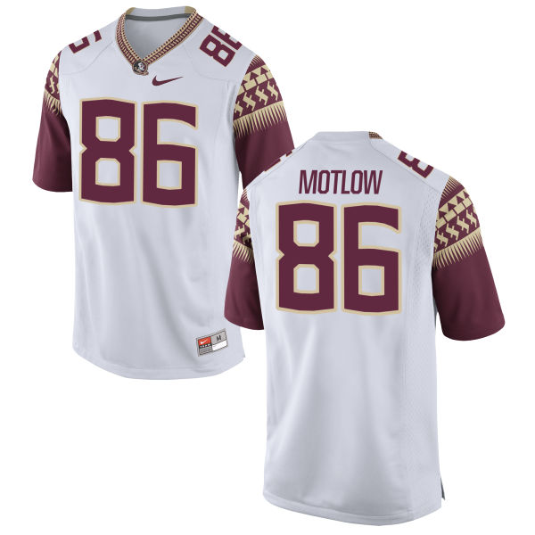 Men's Nike Justin Motlow Florida State Seminoles Game White Football Jersey