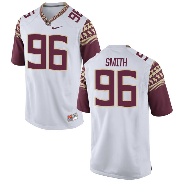 Men's Nike Justin Smith Florida State Seminoles Game White Football Jersey