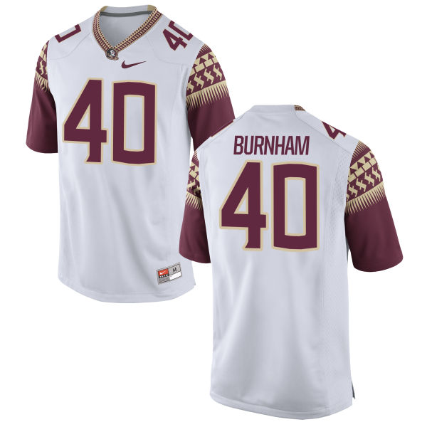 Men's Nike Ken Burnham Florida State Seminoles Authentic White Football Jersey