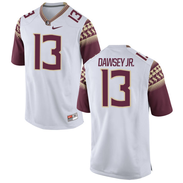 Youth Nike Lawrence Dawsey Jr. Florida State Seminoles Authentic White Football Jersey
