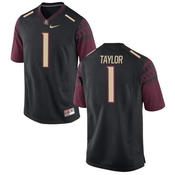 Men's Nike Levonta Taylor Florida State Seminoles Game Black Football Jersey