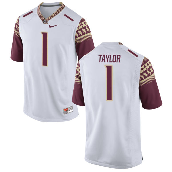 Men's Nike Levonta Taylor Florida State Seminoles Game White Football Jersey