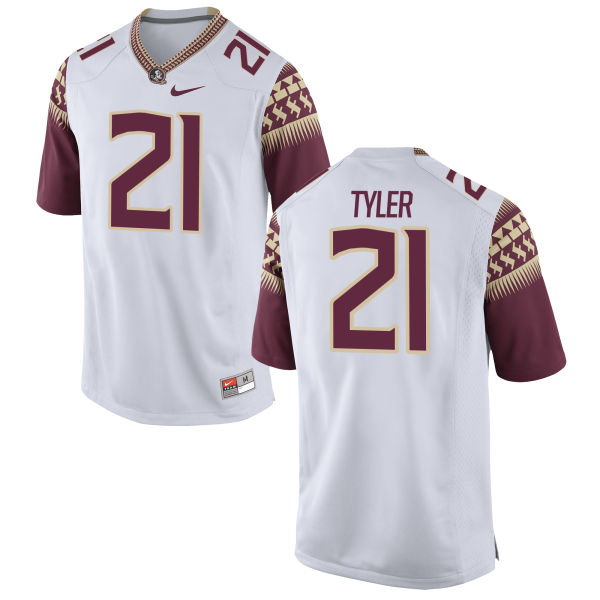 Men's Nike Logan Tyler Florida State Seminoles Game White Football Jersey