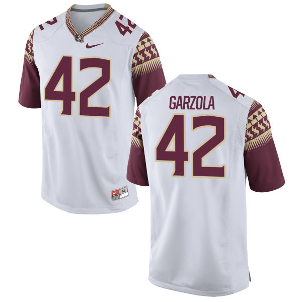 Youth Nike Richard Garzola Florida State Seminoles Game White Football Jersey