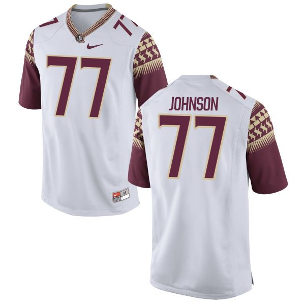 Men's Nike Roderick Johnson Florida State Seminoles Authentic White Football Jersey