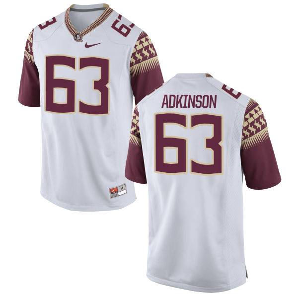 Youth Nike Tanner Adkinson Florida State Seminoles Authentic White Football Jersey