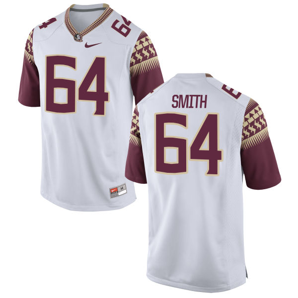 Men's Nike Willie Smith Florida State Seminoles Game White Football Jersey
