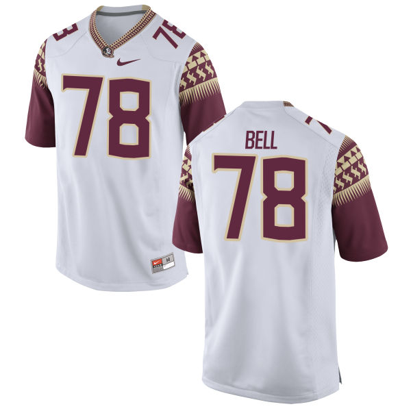 Men's Nike Wilson Bell Florida State Seminoles Authentic White Football Jersey