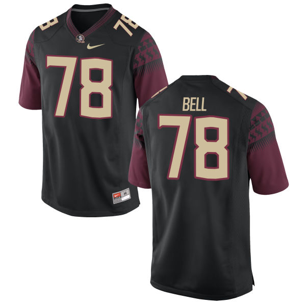 Youth Nike Wilson Bell Florida State Seminoles Game Black Football Jersey
