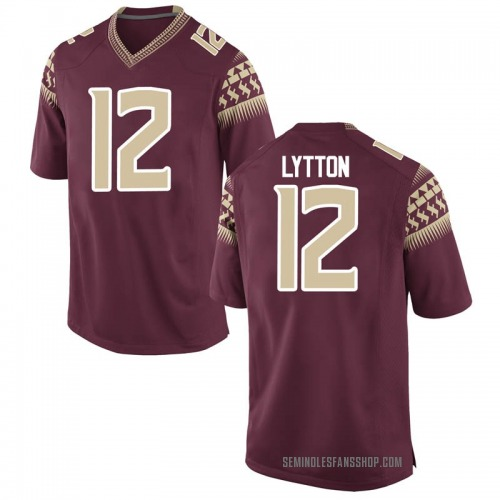 Men's Nike A.J. Lytton Florida State Seminoles Game Garnet Football College Jersey