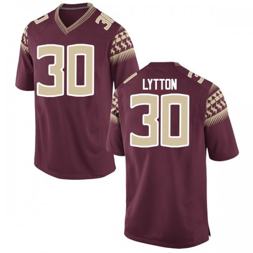 Men's Nike A.J. Lytton Florida State Seminoles Replica Garnet Football College Jersey