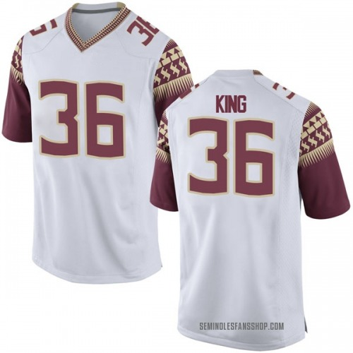 Men's Nike Aaron King Florida State Seminoles Replica White Football College Jersey