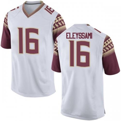 Men's Nike Alex Eleyssami Florida State Seminoles Game White Football College Jersey