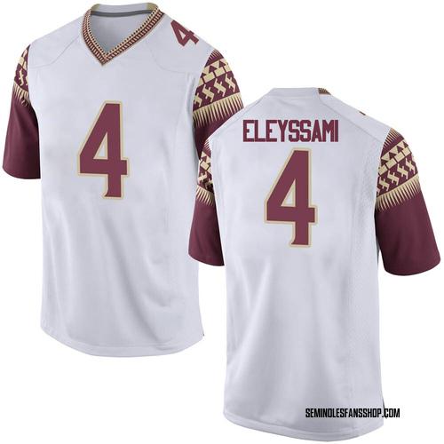 Men's Nike Alex Eleyssami Florida State Seminoles Game White Football College Jersey