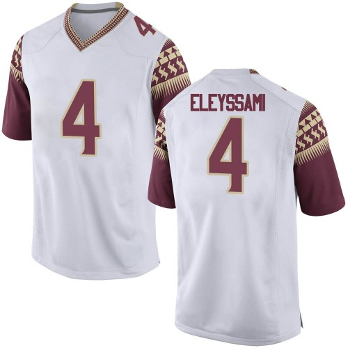 Men's Nike Alex Eleyssami Florida State Seminoles Replica White Football College Jersey