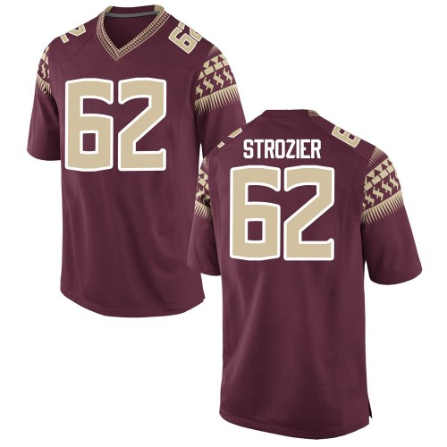Men's Nike Alexander Strozier Florida State Seminoles Game Garnet Football College Jersey