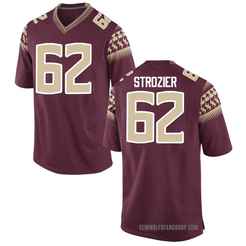 Men's Nike Alexander Strozier Florida State Seminoles Replica Garnet Football College Jersey