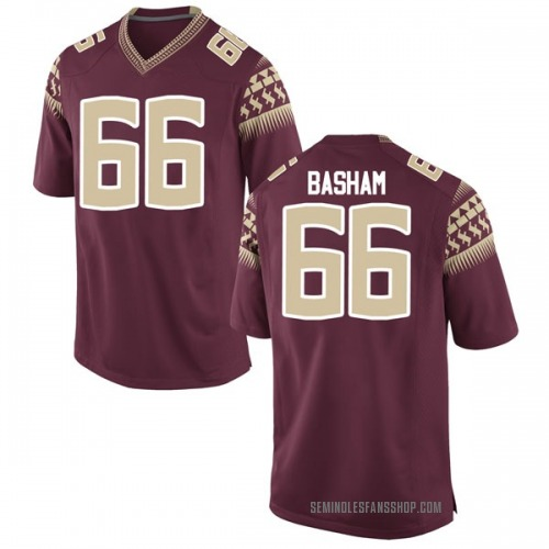 Men's Nike Andrew Basham Florida State Seminoles Game Garnet Football College Jersey
