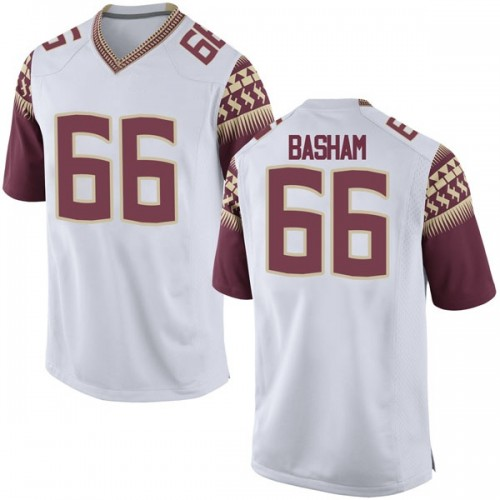 Men's Nike Andrew Basham Florida State Seminoles Game White Football College Jersey