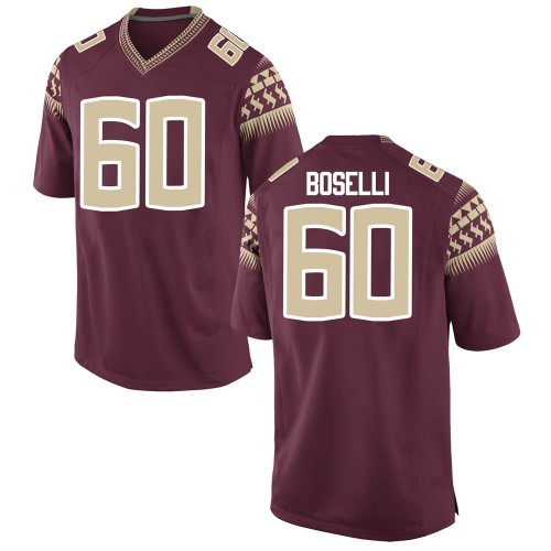 Men's Nike Andrew Boselli Florida State Seminoles Game Garnet Football College Jersey
