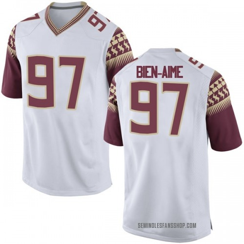 Men's Nike Andy Bien-Aime Florida State Seminoles Game White Football College Jersey