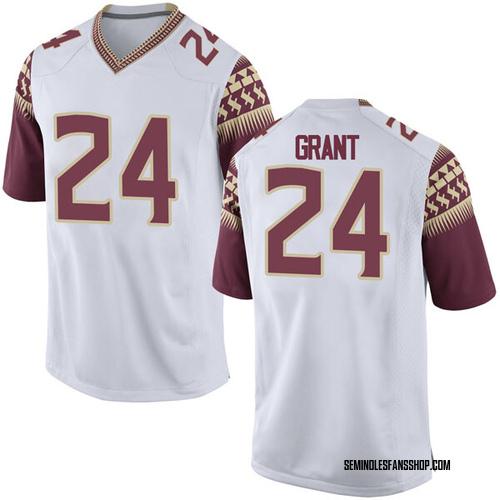Men's Nike Anthony Grant Florida State Seminoles Replica White Football College Jersey