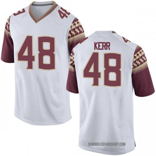 Men's Nike Armani Kerr Florida State Seminoles Game White Football College Jersey