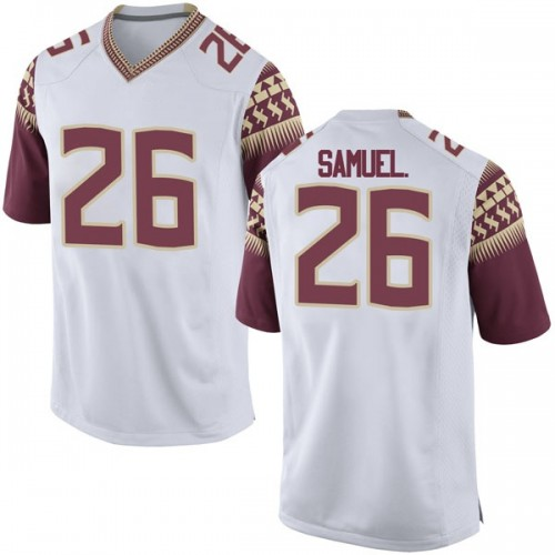 Men's Nike Asante Samuel Jr. Florida State Seminoles Game White Football College Jersey